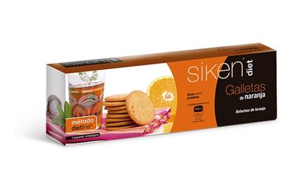 Siken Diet Galletas Naranja 15 Unidades