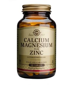 Solgar Calcio Magnesio Plus Zinc 100 comprimidos