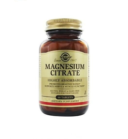 Solgar Citrato Magnesio 60 Comprimidos