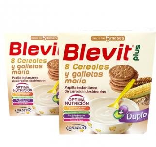 Blevit Plus 8 Cereales Galleta Maria Duplo 2x600 gramos