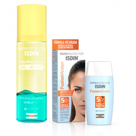 Isdin Fusion Water SpF 50 + 50 ml + Hydro lotion SpF 50 200 ml