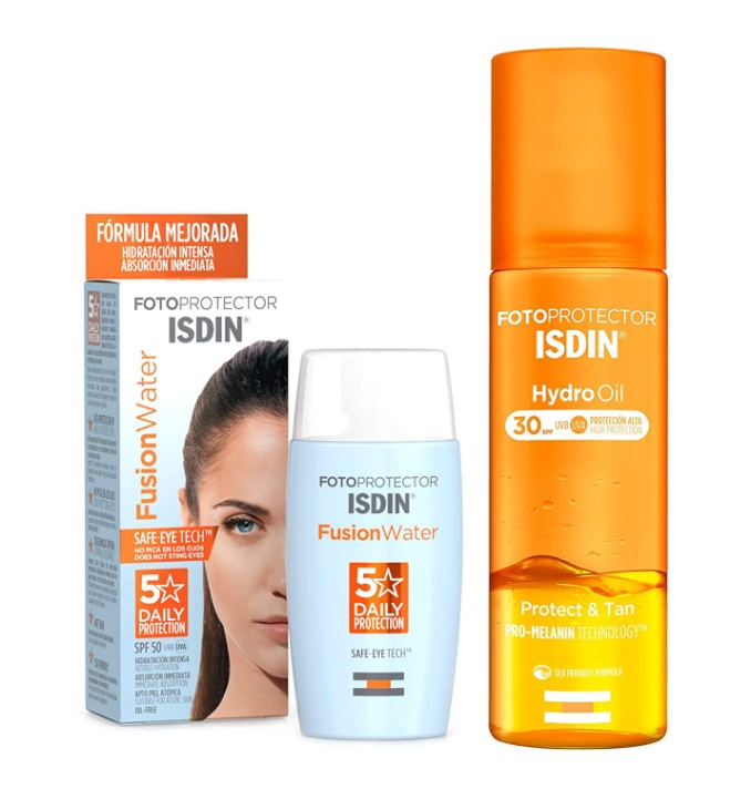 Isdin Fusion Water SpF 50 + 50 ml + hydro oil SpF 30 200 ml