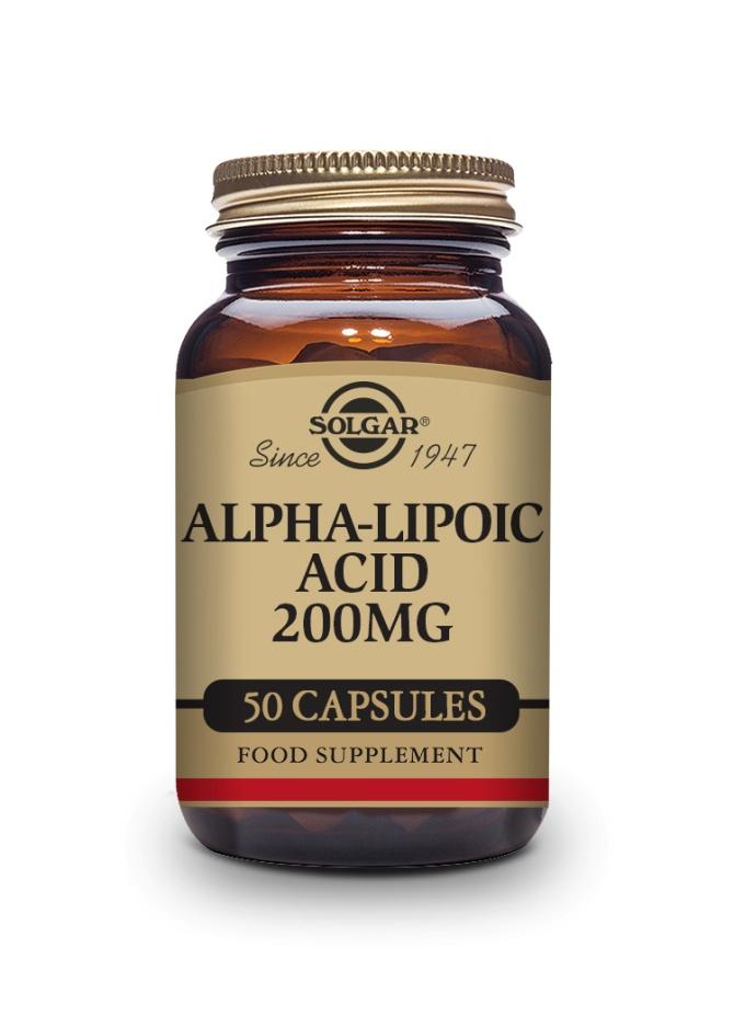 Acido Alfa Lipoico 200mg Solgar 50 Capsulas Vegetales