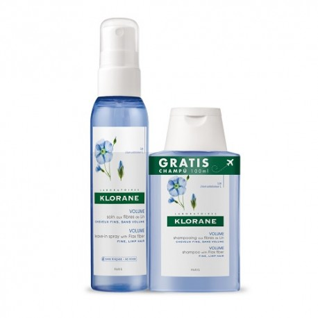 Klorane Spray Lino 125ml + Champú 100ml